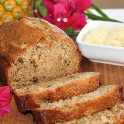 Hawaiian Pineapple Banana Nut Bread