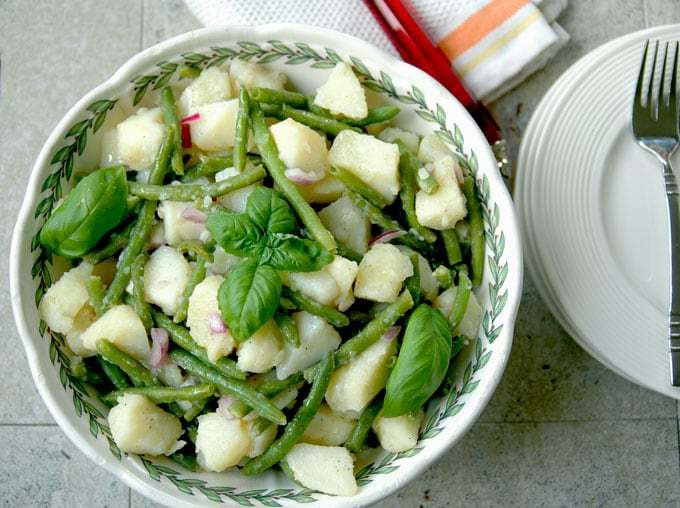 Italian Potato Salad with Green Beans