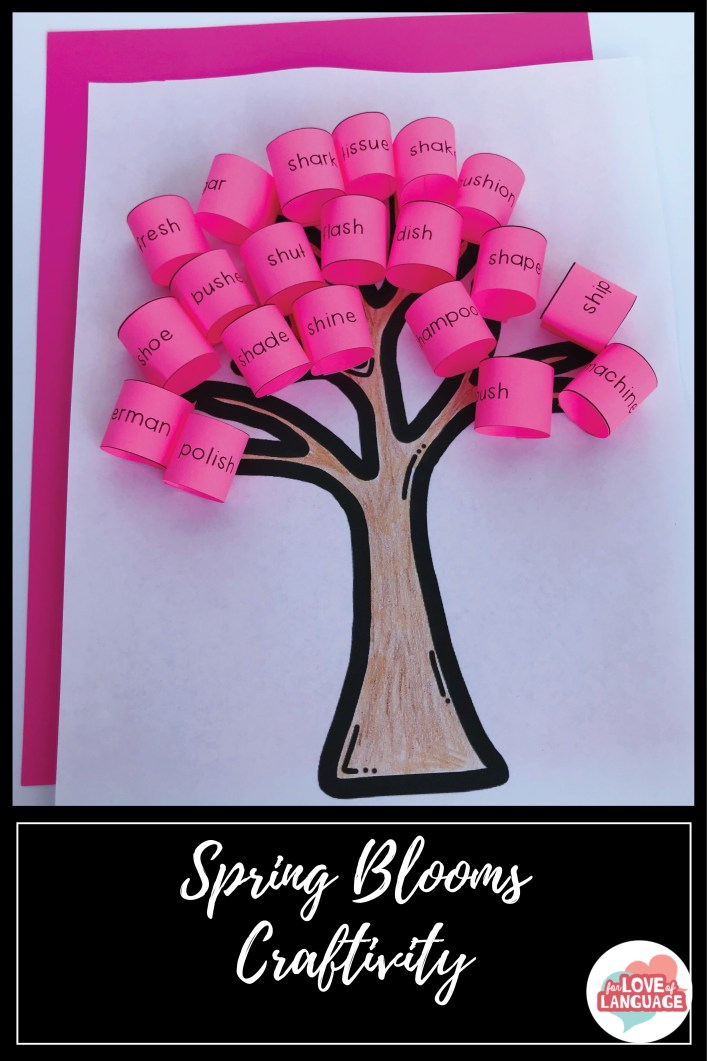 Spring Blooms Craftivity--fun, low-prep craft to target articulation or any other speech and language goal!