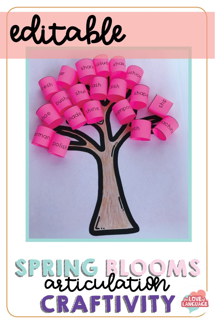 Editable Spring Blooms Articulation Craftivity--fun, low prep spring craft to target articulation or any other goals!