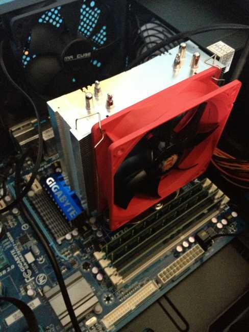 Instalación del ventilador del Thermaltake NIC F3
