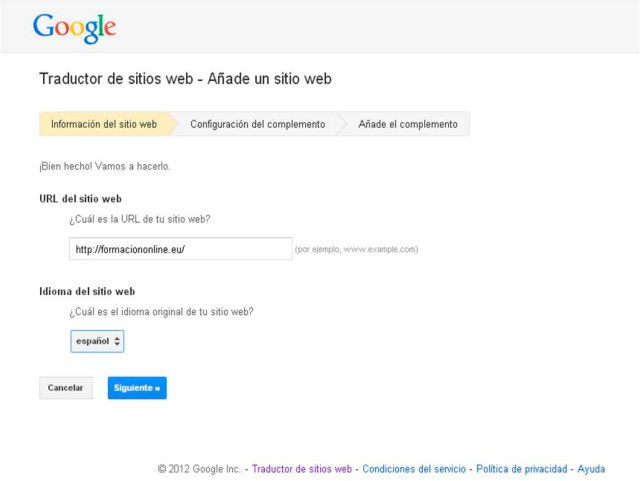 Como instalar en tu web o blog Google Translate Web
