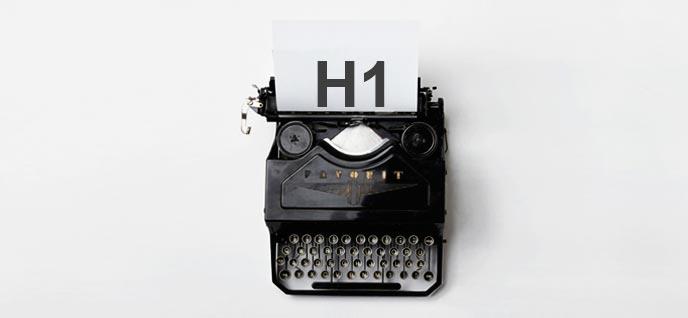 Usar varias etiquetas H1 en una web HTML5