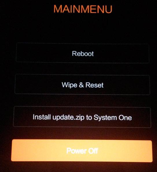 Instala Install update.zip
