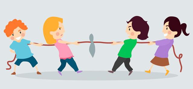 Padres e hijos jugando: aprendiendo y creciendo juntos