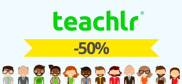 50 cursos de Teachlr al 50% de descuento