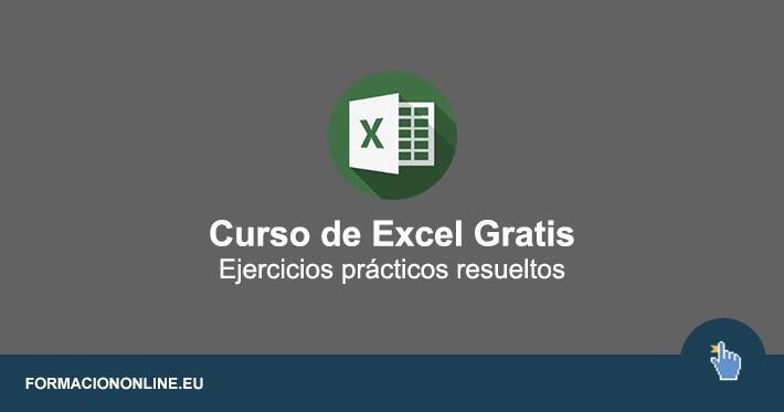 Curso de Excel Gratis con Ejercicios Prácticos