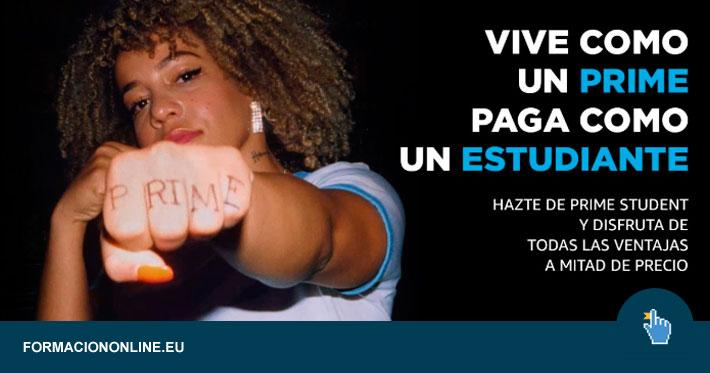 Amazon Prime Student Regala 10 € y Suscripción al 50 % de Descuento!