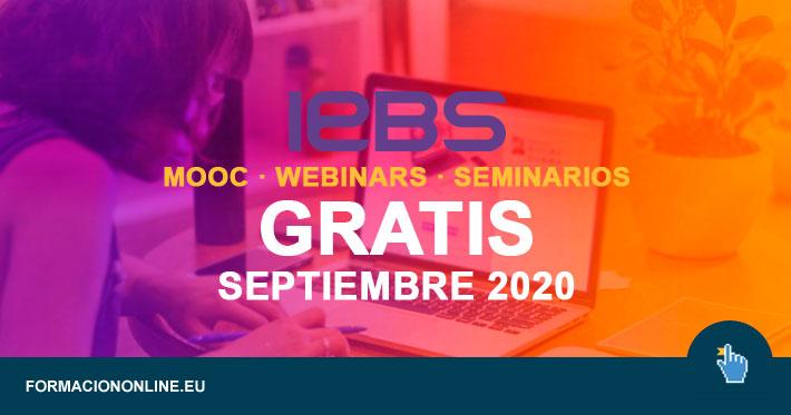IEBS lanza 4 Seminarios y Webinars Gratis en Julio de 2020