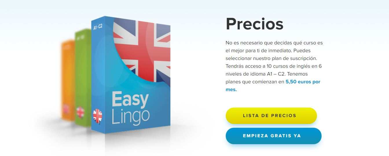 precios de la plataforma para aprender ingles desde casa EasyLingo