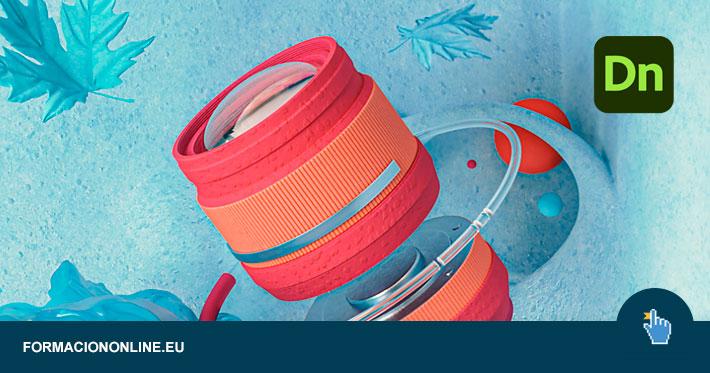 Curso de Adobe Dimension Gratis: Diseña tu primera composición abstracta 3D