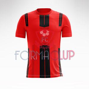 2018 Dortmund Kırmızı/Siyah Halı Saha Forması + Şort