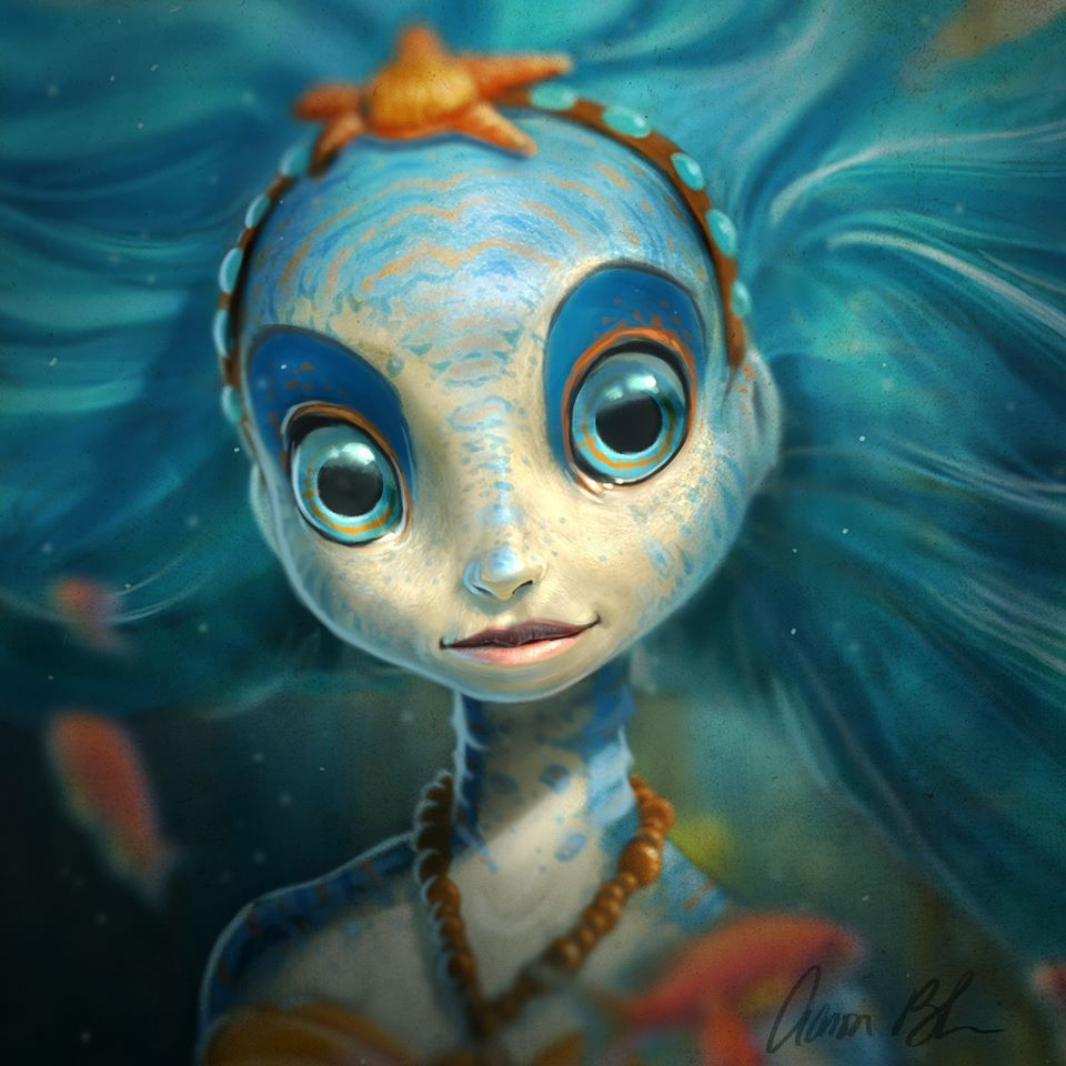 aaron blaise sea nymph character design 2