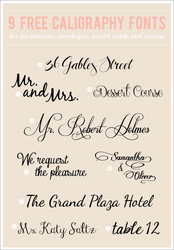 Even More Awesome Calligraphy Fonts