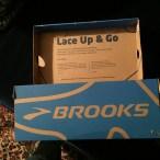 brooks running shoes, packaging, branding