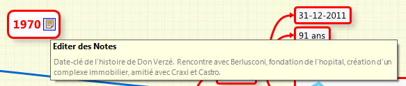 Utiliser les notes de XMind pour expliquer un point important du texte