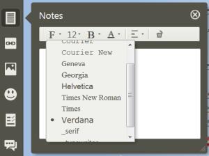 Editeur de notes : permet l'édition et l'intégration de notes écrites dans une carte mentale réalisée avec Mindomo