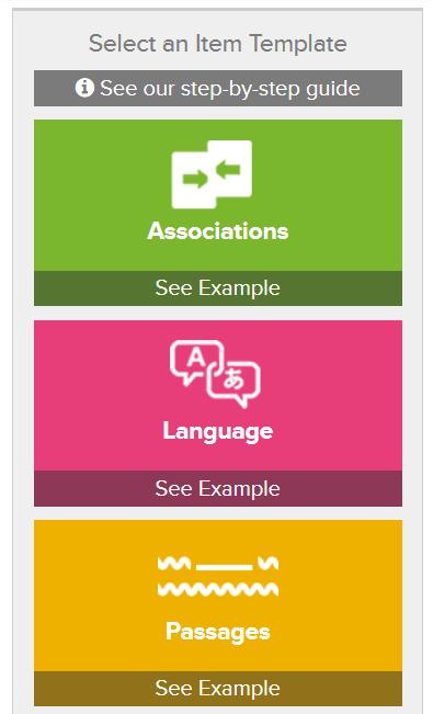 Choix d'un modèle ou template pour votre jeu de flashcards : associations, langues, partie d'un tout, etc.