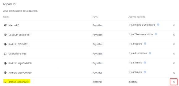 Effacer le contenu du répertoire Dropbox Pro d'un périphérique en le détachant