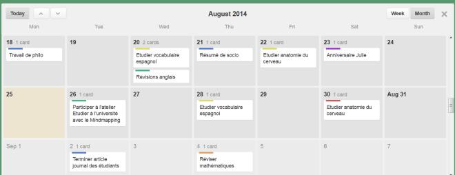 Visualisation de votre travail sous forme de calendrier dans Trello