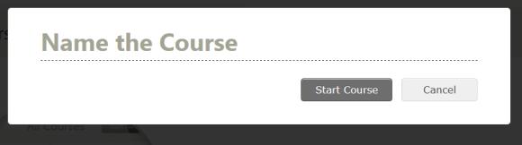Procédure pour attribuer un nom à un nouveau cours sur l'interface School de Mindomo