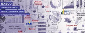 Illustration pour BXECO, le nouveau magazine de l'actualité économique de la région de bruxelles-capitale sur bxfm