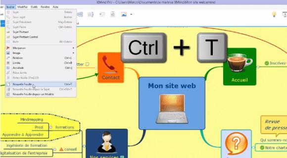 Comment insérer une nouvelle feuille dans le classeur XMind pour y dessiner une nouvelle mindmap