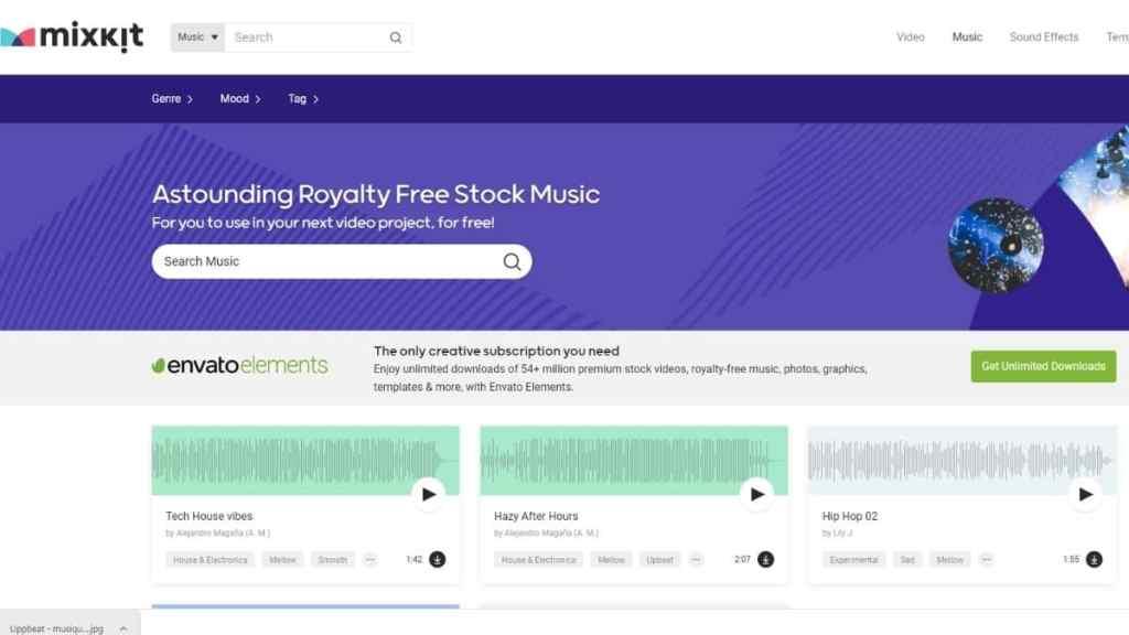 Mixkit - musique et effets sonores gratuits