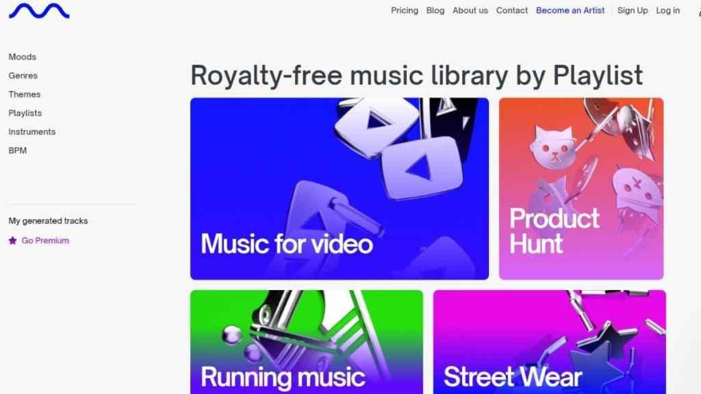 Mubert, de la musique gratuite par playlists