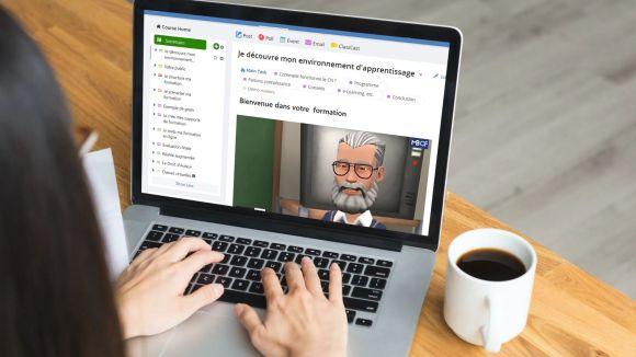 Créez votre cours en ligne : écran d'accueil de votre formation