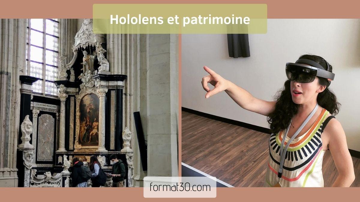 Hololens et exposition Entre Ciel et Terre à l'église Saint-Pierre de Louvain