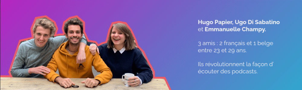 Les trois fondateurs de Tumult - l'app sociale de podcasting