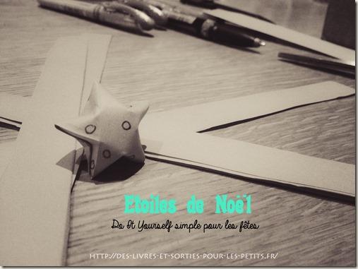 Etoiles de noel DIY origami2