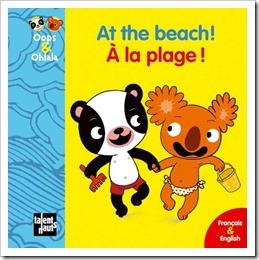 A la plage Oops et Ohlala livres bilingues