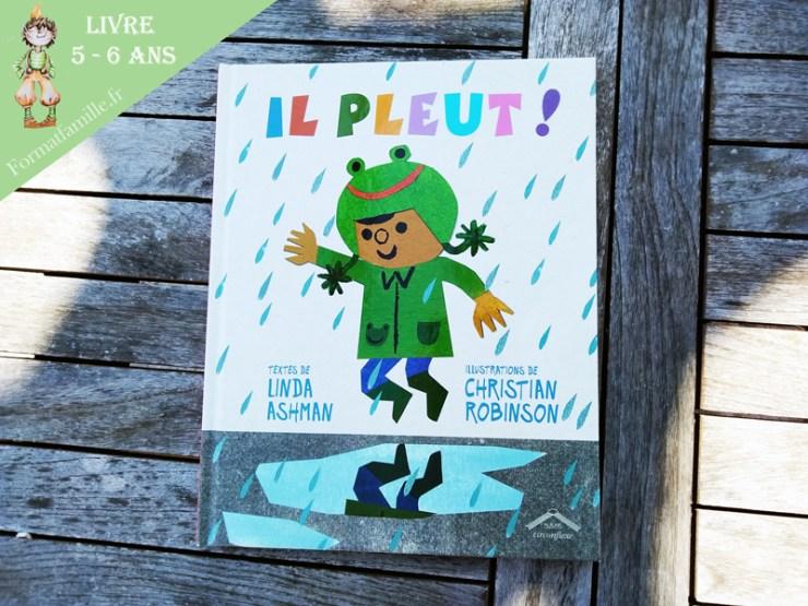 il pleut livre enfant morale pluie