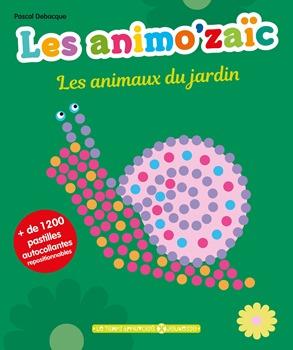 animozaic les animaux du jardin livre activite gommettes