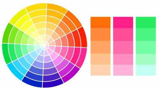 Palette complémentaire adjacente