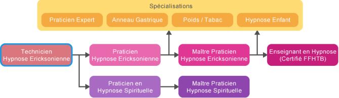 schema cursus Technicien Hypnose