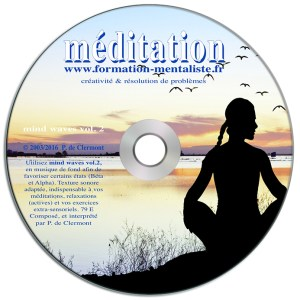 Mentalisme Pascal de Clermont CD Mind Waves 2 MEDITATION visuel