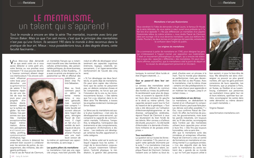 PRESSE – Le mentalisme, un talent qui s'apprend ! – LULU magazine