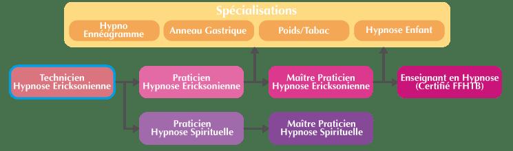 Organigramme de la Formation Technicien Hypnose Ericksonienne Suisse
