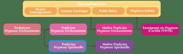 Organigramme Formation Praticien Hypnose Spirituelle Suisse
