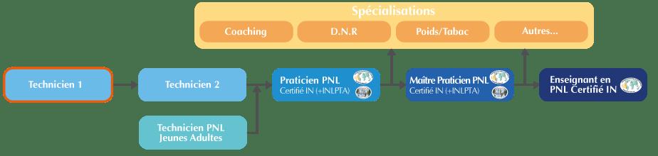 Organigramme Formation Technicien PNL Suisse niveau 1