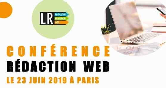 Conférence Rédaction Web le 23 juin à Paris