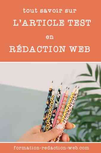 Article test en rédaction web