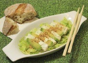 recette de salade tofu avocat