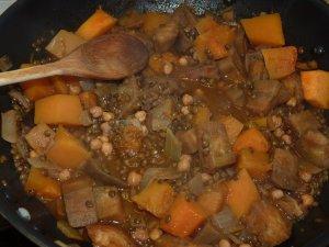 recette d'automne à base de courge : potimarron et légumes