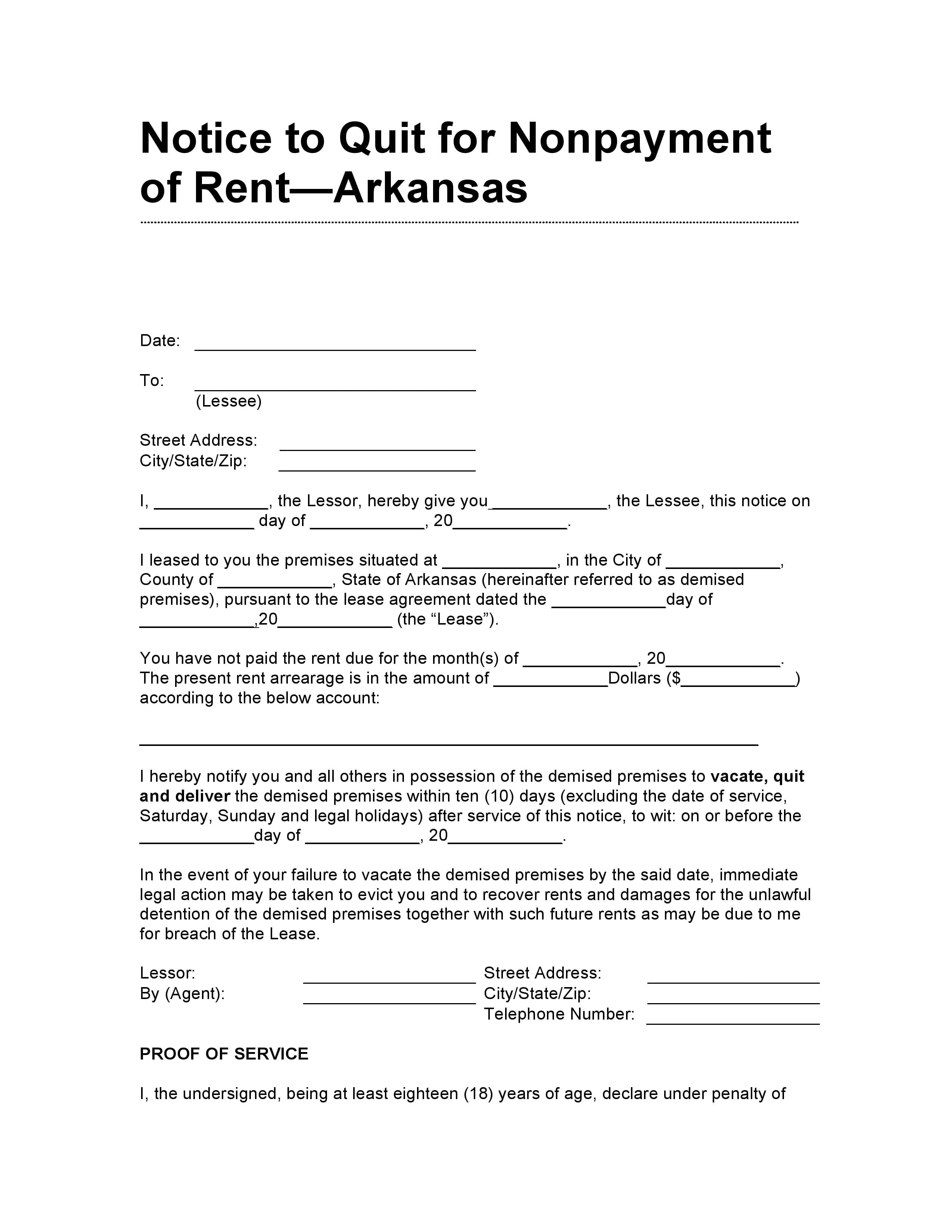 Eviction Notice Template Uk example blank printable eviction – Eviction Warning Letter