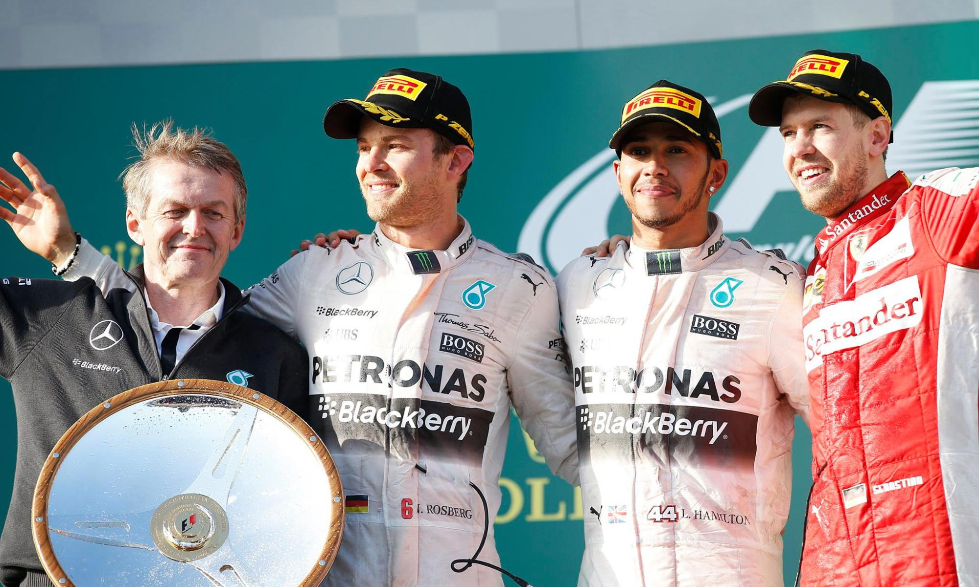 AusGP | Rosberg - Hamilton - Vettel