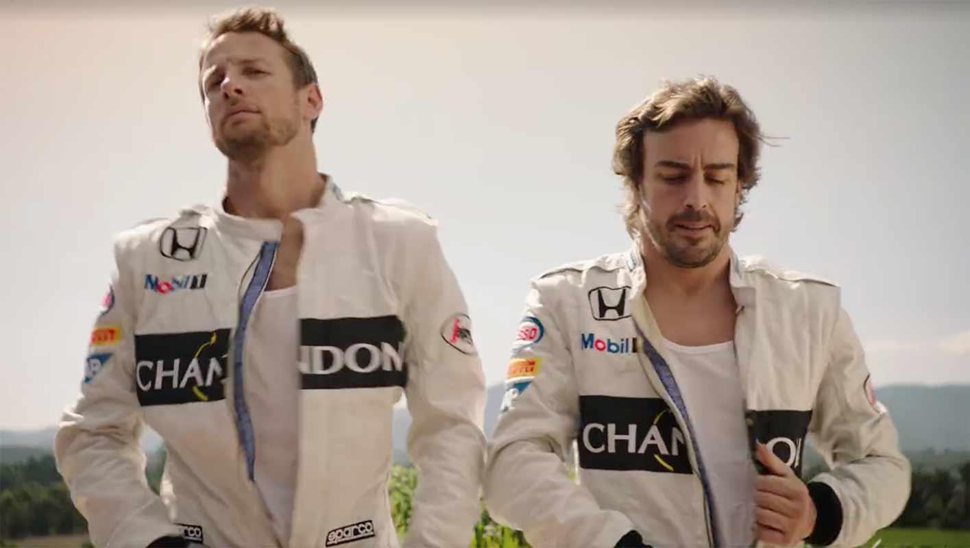 McLarens Buttons & Alonso - Chandon reklam